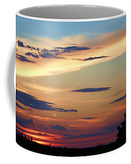 Coffee Mug featuring the digital art Painted Oklahoma Sky With Windmill by Shelli Fitzpatrick