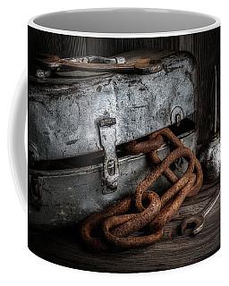 Painted Toolbox And Chain Coffee Mug