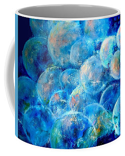 Coffee Mug featuring the painting Painterly Bubbles by VIVA Anderson