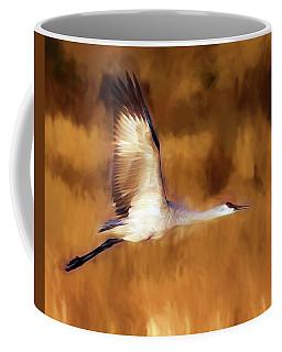 Painterly Crane Coffee Mug