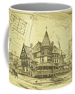 Pair Of Twin Cottages, Hastings Square, Spring Lake, Nj Coffee Mug