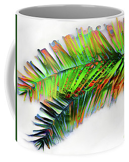 Coffee Mug featuring the digital art Palm Leaf by Pennie McCracken