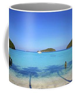 Palm Shadows On The Atlantic Coffee Mug