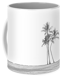 Palm Tree Cluster In Black And White Coffee Mug
