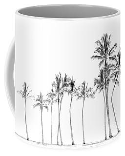 Palm Tree Horizon In Black And White Coffee Mug