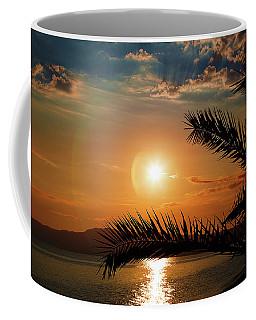 Coffee Mug featuring the photograph Palm Tree On The Beach by Milena Ilieva