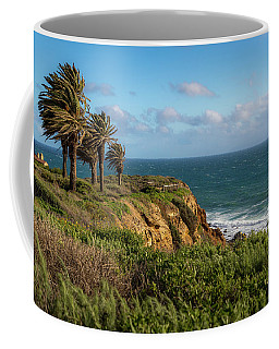 Coffee Mug featuring the photograph Palm Trees Blowing In The Wind by Andy Konieczny