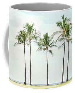 Palm Trees On The Beach Coffee Mug