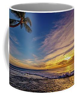 Palm Wave Sunset Coffee Mug