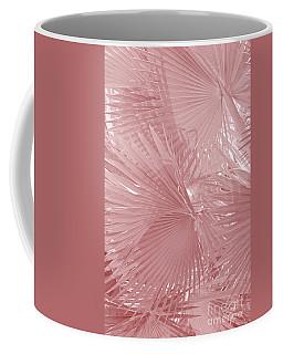 Palmetto Leaves In Pink Coffee Mug