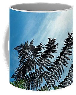 Coffee Mug featuring the photograph Palms Flying High by Rosanne Licciardi