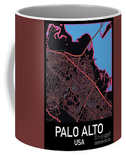 Palo Alto City Map Coffee Mug