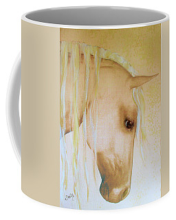 Coffee Mug featuring the painting Palomino Head Study by Valerie Anne Kelly
