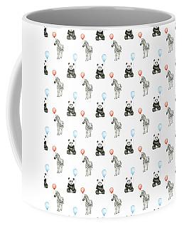Panda And Zebra With Balloons Pattern Coffee Mug
