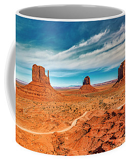 Coffee Mug featuring the photograph Panoramic Monument Valley by Andy Crawford