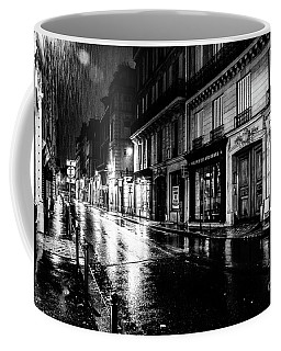 Paris At Night - Rue Saints Peres Coffee Mug