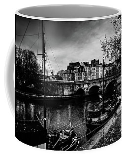 Paris At Night - Seine River Towards Pont Neuf Coffee Mug