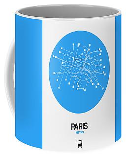 Paris Blue Subway Map Coffee Mug