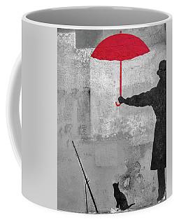 Paris Graffiti Man With Red Umbrella Coffee Mug
