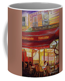 Coffee Mug featuring the painting Paris Night by Donna Hall