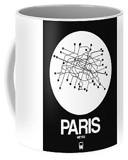 Paris White Subway Map Coffee Mug