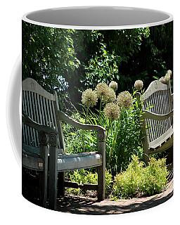 Park Benches At Chicago Botanical Gardens Coffee Mug