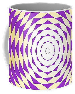 Coffee Mug featuring the painting Passionate Purple  by Arttantra