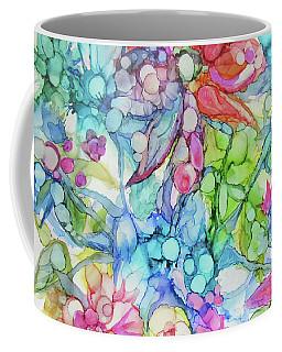 Pastel Flowers - Alcohol Ink Coffee Mug