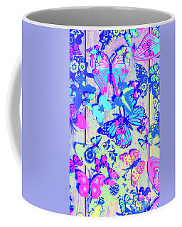 Pastel Wings And Button Butterflies Coffee Mug