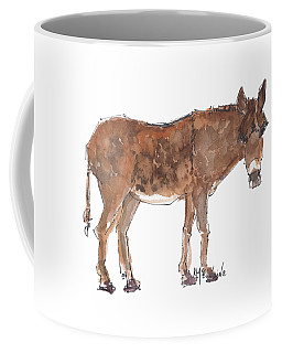 Pasture Boss 2015 Watercolor Painting By Kmcelwaine Coffee Mug