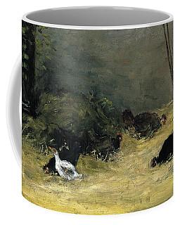 Paul Gauguin -paris, 1848-atuona, Marquesas Islands, 1903-. In The Henhouse -ca. 1878-. Oil On Ca... Coffee Mug