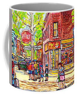 Paul Patate Pointe St Charles Paintings For Sale Montreal Diner Deli Bistro Restaurant Art C Spandau Coffee Mug