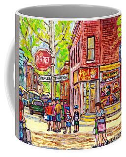 Paul Patate Pointe St Charles Paintings For Sale Montreal Diner Deli Bistro Restaurant Art C Spandau Coffee Mug