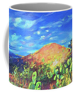 Coffee Mug featuring the painting Pause On Mulholland Drive by Bonnie Lambert