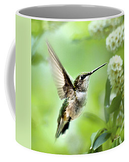 Peaceful Love Hummingbird Square Coffee Mug