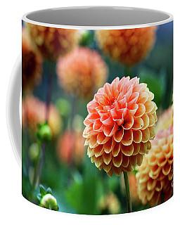 Peach Dahlias Coffee Mug