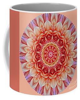 Peach Floral Mandala Coffee Mug
