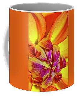 Peach Purple Flower Coffee Mug
