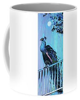Peacock On A Fence Coffee Mug