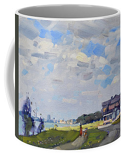 Peekaboo Sun At Gratwick Park Coffee Mug