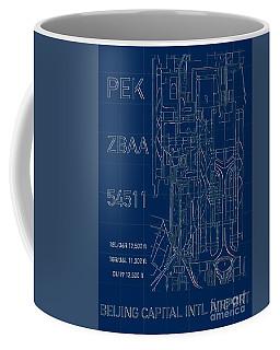 Pek Beijing Capital Airport Blueprint Coffee Mug