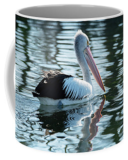 Pelican On The Lake Coffee Mug