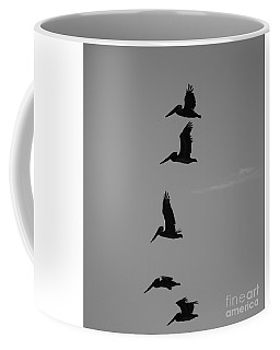 Coffee Mug featuring the photograph Pelican Silhouette  by Jeni Gray