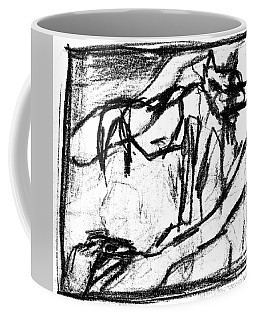 Pencil Squares Black Canine B Coffee Mug