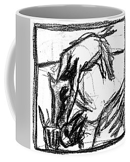 Pencil Squares Black Canine F Coffee Mug