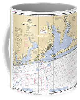 Pensacola Bay And Approaches Noaa Chart 11382 Coffee Mug