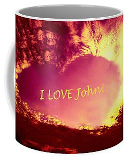 Personalized Heart For John Coffee Mug