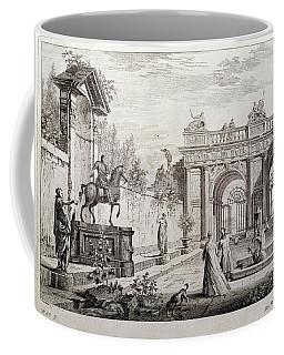 'perspectiva Con Figuras Y Arquitecturas Clasicas', 1740, British School, Etch... Coffee Mug