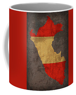 Peru Country Flag Map Coffee Mug