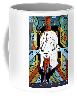 Coffee Mug featuring the drawing Petroleum by Sotuland Art
